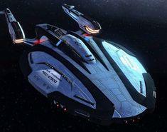 Spaceship Art, Spaceship Design, Spaceship Concept, Concept Ships, Scotty Star Trek, Black Widow Cosplay, Star Trek Online, Starfleet Ships, Star Wars The Old