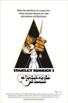 stanley kubrick's A CLOCKWORK ORANGE movie poster 24X36 COUNTER CULTURE hot