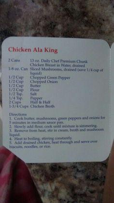 Chicken Ala King