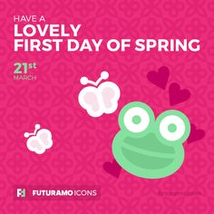 Have a jouful first day of spring! Check out our FUTURAMO ICONS – a perfect tool for designers & developers on futuramo.com
