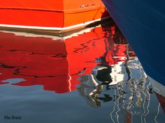 Reflejos barcos en Santoña