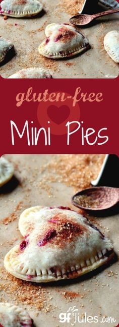 Gluten Free Mini Pies for Valentine\'s Day or anytime - handheld deliciousness everyone will love to share! gfJules.com #glutenfree #valentines #dessert