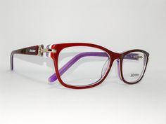 Óculos Pequeno Armação Acetato Feminino Tamanho 51 Vinho