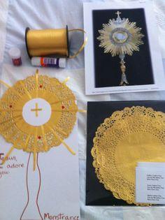 Monstrance, Holy Eucharist craft for kids