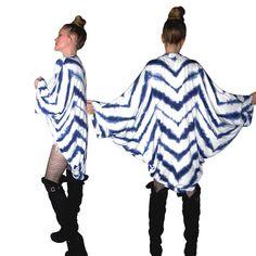 Chevron Kimono Cardigan Sweater Shibori Tie Dyed by luvluxx, $115.00