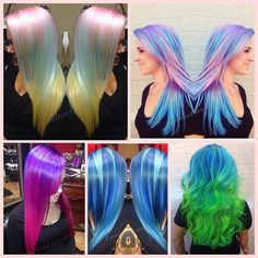 Awesome hair colors. A shame I'm too afraid to try.