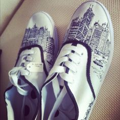 My Hadiwibawa shoes hand drawn by one of my friends! So much talent.