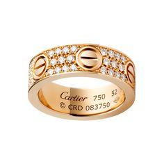 Stainless Steel Pavé Love Ring - V & V Jewels