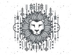 Lion head illustration in black and white featuring hand drawn lines, geometric… Lion head illustration in black and white featuring hand drawn lines, geometric… Lion Tribal, Geometric Lion, Geometric Shapes, Simba Rey Leon, Tier Doodles, Lion Sketch, Lion Vector, Cartoon Lion, Lion Drawing