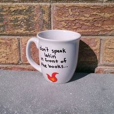 Hand Painted Nerdy Mug, Buffy the Vampire Slayer, Quote on Etsy, $10.00