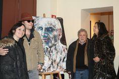 Gianni testa con la moglie con chiara testa ( coordinatrice ) e L amico artista Daniele Bongiovanni !