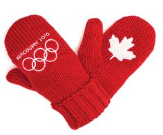 Roots Canada Olympic Mittens (pinned by www.redwoodclassics.net)