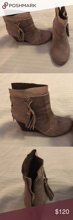 Wedge booties OTBT extra comfortable wedge booties. I stand all day in this brand 👌 worn once, just not quite my style. OTBT Shoes Ankle Boots & Booties