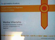Google Analytics -sertifikaatti.