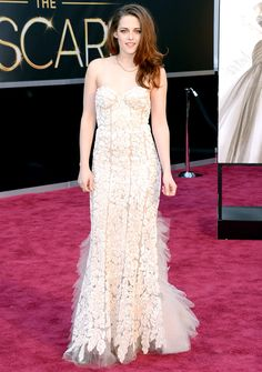 Stars' Wedding-Inspired Red Carpet Dresses: Kristen Stewart