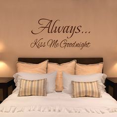 This is the perfect wall decal for above mine and Jason's bed <3 I also love this bed I want it : )