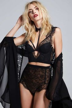 Love, Courtney by Nasty Gal Sugar Coma High-Waisted Lace Panty - Black - Clothes | Valentine's Day | Nasty Gal X Courtney Love | Valentine's Day | Best Sellers | Panties | Lingerie