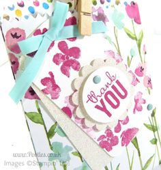 Stampin' Up! UK Demonstrator Pootles - Painted Blooms Mini Treat Bag Tip Tutorial   Oh don't you just love a new die that makes the most darling of th