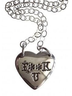 """""""F**k U"""" Necklace by Femme Metale"""