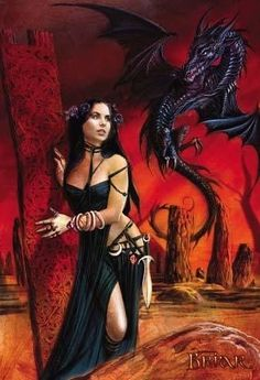Chica Fantasy, Fantasy Girl, Dark Fantasy, Fantasy Women, Fantasy Characters, Female Characters, Dragons, Dragon Artwork, Female Dragon