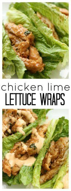 You Have Meals Poisoning More Normally Than You're Thinking That Chicken Lime Lettuce Wraps From Healthy Dinner Recipes Gluten Free Dinners Easy Meal Ideas Healthy Wraps, Healthy Drinks, Healthy Cooking, Healthy Dinner Recipes, Healthy Snacks, Healthy Eating, Cooking Recipes, Healthy Dinners, Breakfast Recipes