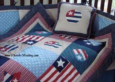 Americana/American Flag 10-pc Baby Crib/Nursery Bedding Set