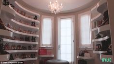 Makeover: The star had this room converted into a shoe closet after purchasing her $2.7million Calabasas mansion