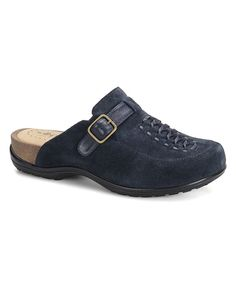 Look at this Softspots Night Navy & Arcadia Cam Suede Mule on #zulily today!