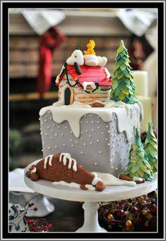 Snoopy Christmas by Marinoldcakes