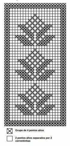 ideas for crochet table runner diagram tablecloths doily patterns Filet Crochet Charts, Crochet Diagram, Knitting Charts, Crochet Motif, Crochet Doilies, Crochet Yarn, Crochet Stitches, Doily Patterns, Cross Stitch Patterns