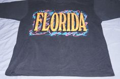 Vintage 1980's - Florida Retro T Shirt by TheMercerStreetHouse on Etsy