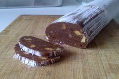 Salchichón de chocolate sin gluten con Thermomix