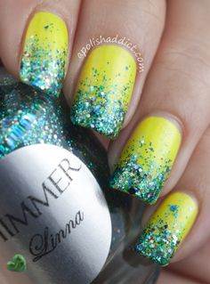 A Polish Addict. This is a very cute design and color for the summer and spring(: