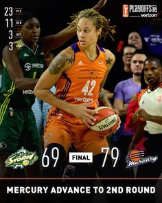 """The advance to Round 2 of the behind a big time performance from…"""" Brittney Griner, Wnba, Sports, Big Time, Basketball, Life, Hs Sports, Excercise, Sport"""