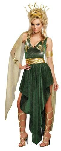 Charm everyone at the party when you wear this Medusa Adult Costume! The costume…