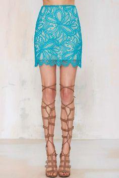Nasty Gal x For Love & Lemons Beach Breeze Lace Skirt