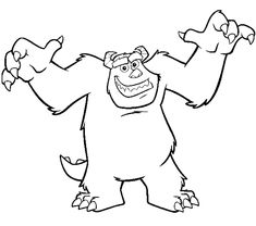 Monster Inc Colouring Pictures. Coloring Pages The Monster Inc. Monsters Inc is a 2001 computer-animated feature film released by Pixar Animation Studios in collaboration with Disney. Monster Coloring Pages, Cat Coloring Page, Halloween Coloring Pages, Cartoon Coloring Pages, Disney Coloring Pages, Coloring Pages To Print, Coloring Book Pages, Printable Coloring Pages, Colouring Sheets
