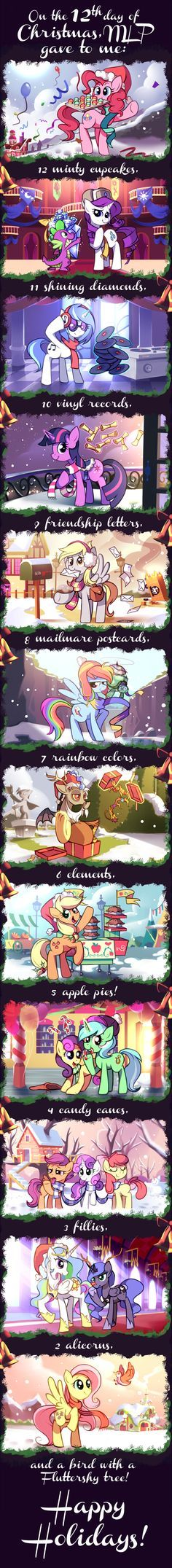 The 12 Days of Christmas by Karzahnii.deviantart.com on @deviantART---- christmas is coming my brony friends!!!!