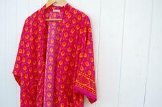 Pink Fluor Kimono