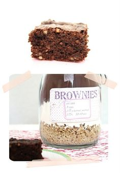 Brownies im Glas