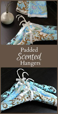 Learn how to make scented padded hangers with simple wire hangers, fragrant lavender and scraps of fabric. Makes a great housewarming or shower gift.