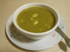 SPLIT PEA SOUP! Edamame (soy beans) cooked with split green peas ...