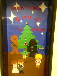 Star Wars Christmas Yoda Classroom Door 2015 2016 School