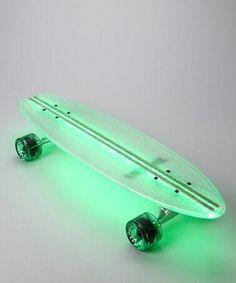 Green Lighted Skateboard  #helloColor