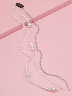 1pc Faux Pearl Beaded & Rhinestone Engraved Hair Accessory | SHEIN South Africa Pearl Beads, Pearl Necklace, Pendant Necklace, Hair Accessory, Free Gifts, Hair Clips, Pearls, South Africa, Accessories