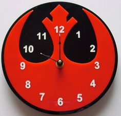 Star Wars Rebel Alliance symbol clock.