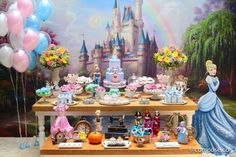 Cinderella Birthday Party-Fiesta De La Cenicienta — The Iced Sugar Cookie Princess Birthday Party Decorations, Disney Princess Birthday, Cinderella Birthday, 3rd Birthday Parties, Cinderella Story, Cinderella Slipper, Cinderella Disney, Disneyland Birthday, Party Fiesta