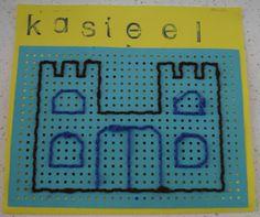 Knutselen 2d: Kasteel borduren Castle Theme Classroom, Classroom Themes, Fairy Land, Fairy Tales, Dragons, Genius Hour, Knight In Shining Armor, Fathers Day Crafts, New Career