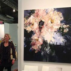 Handmade Oil Painting On Canvas Abstract Painting Modern Mandala Art B – caperral Plant Painting, Oil Painting Flowers, Abstract Flowers, Abstract Canvas, Canvas Art, Black Abstract, Art Floral, Art Design, Mandala Art