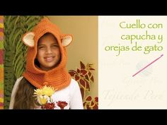 Super fácil: Cuello capucha con orejas de gato tejida a crochet / Easy: crochet cat hooded cowl - YouTube